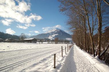 Zimní turistická stezka v Kitzbühelu